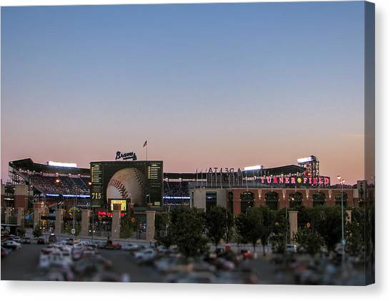 Sunset At Turner Field Canvas Print