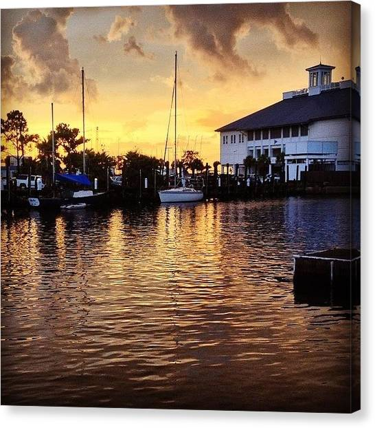 Sailboats Canvas Print - Sunset At Westend #iphone5 by Scott Pellegrin