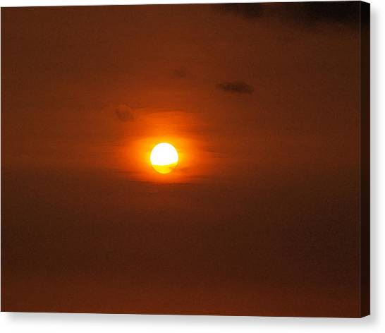 Sunrise Horizon Canvas Print - Sunset  by Athala Carole Bruckner