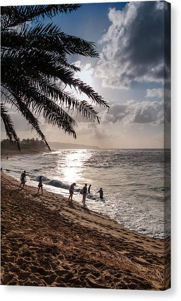 Sunset Beach Park Canvas Print