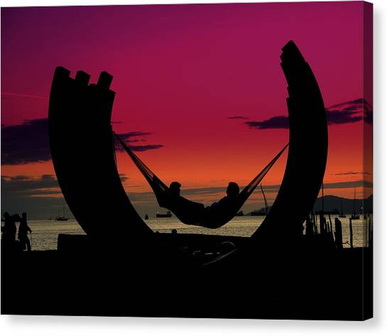 Sunset Beach Relaxation Canvas Print