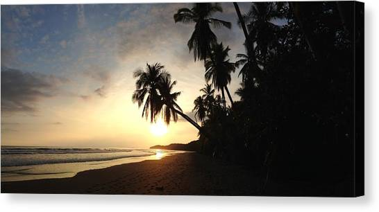 Sunset Beach Canvas Print by Tropigallery -