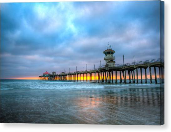 Sunset Beneath The Pier Canvas Print