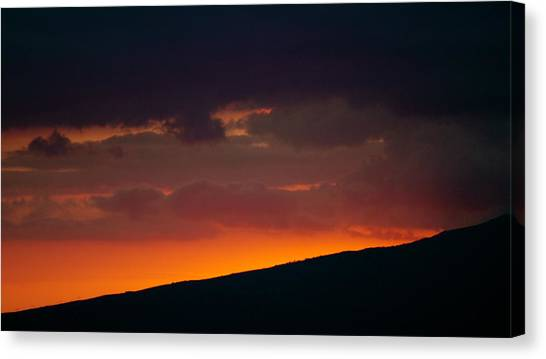 Sunset Beyond The Waianae Mountain Range Canvas Print