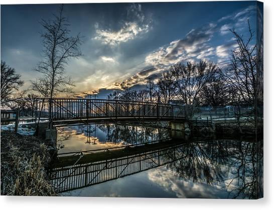 Sunset Bridge 2 Canvas Print