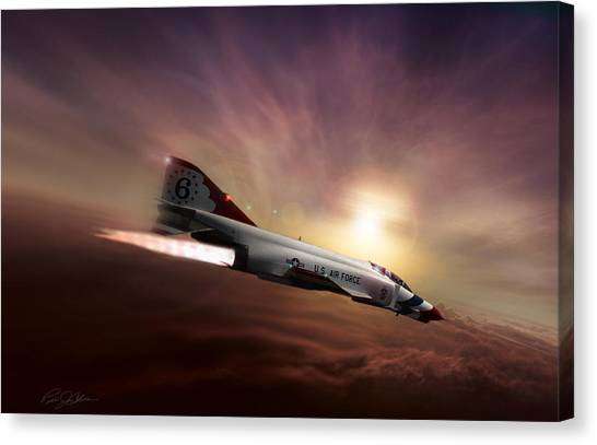 Sidewinders Canvas Print - Sunset Burn by Peter Chilelli