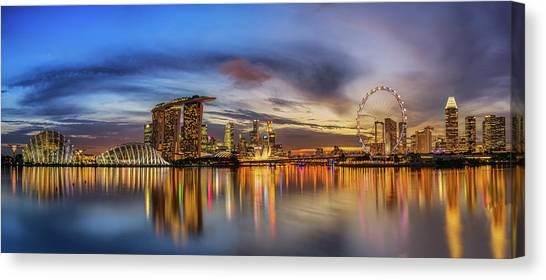 Marinas Canvas Print - Sunset By The Bay by Zexsen Xie