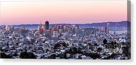 Sunset Cityscape Canvas Print