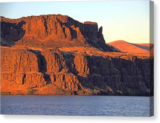 Sunset Cliffs At Horsethief  Canvas Print