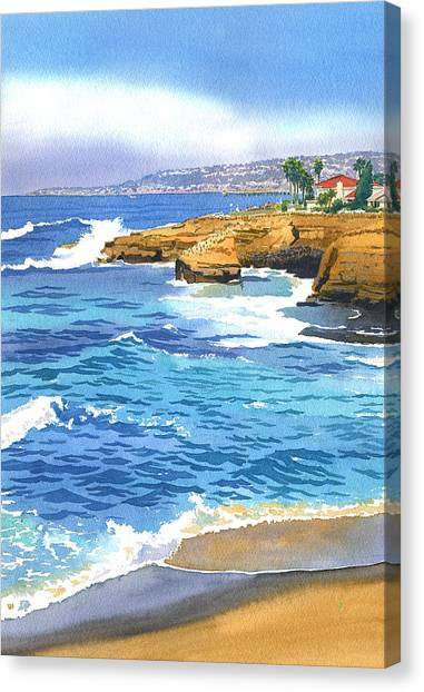 Cliffs Canvas Print - Sunset Cliffs Point Loma by Mary Helmreich