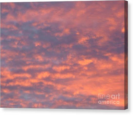 Sunset Clouds Canvas Print by Mark Bowden