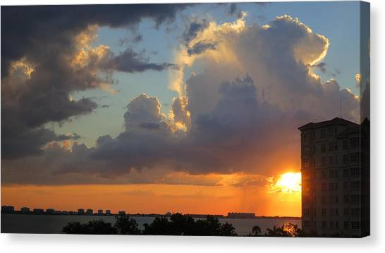 Sunset Shower Sarasota Canvas Print