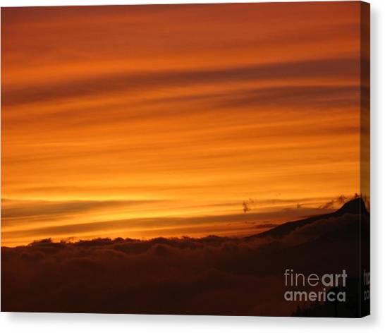 Sunset - Coucher De Soleil - Plaine Des Cafres - Ile De La Reunion - Reunion Island - Indian Ocean Canvas Print by Francoise Leandre
