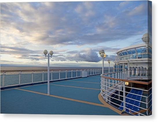 Cruise Ships Canvas Print - Sunset Cruise by Betsy Knapp