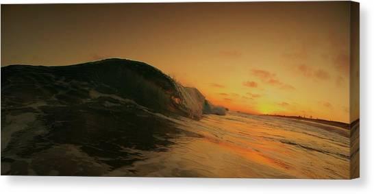 Sunset Curl Canvas Print by Daniel Rainey