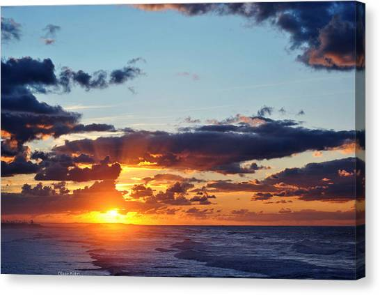 Sunset Canvas Print by Diaae Bakri