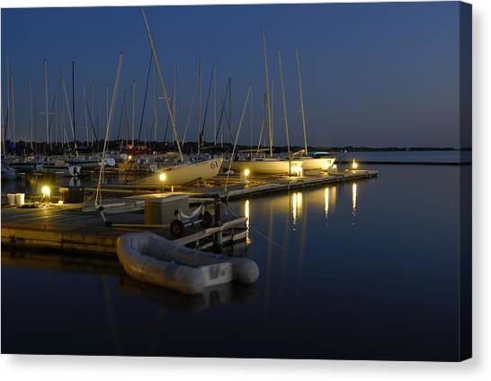 Sunset Dock Canvas Print