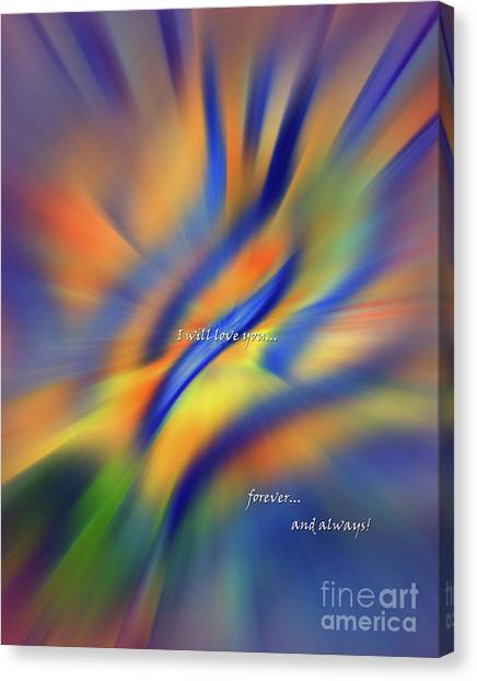 Sunset Dreams I Will Love You Forever  Canvas Print