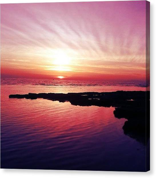 Colorful Canvas Print - Sunset by Emanuela Carratoni