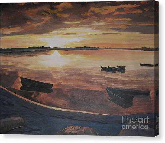 Sunset Evening Tide Canvas Print