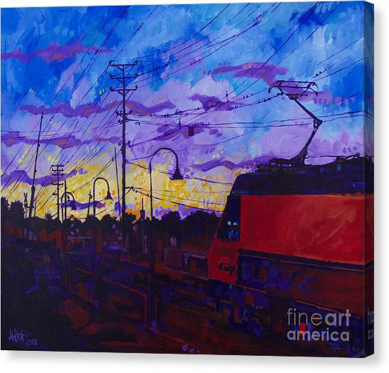 Sunset Express Canvas Print