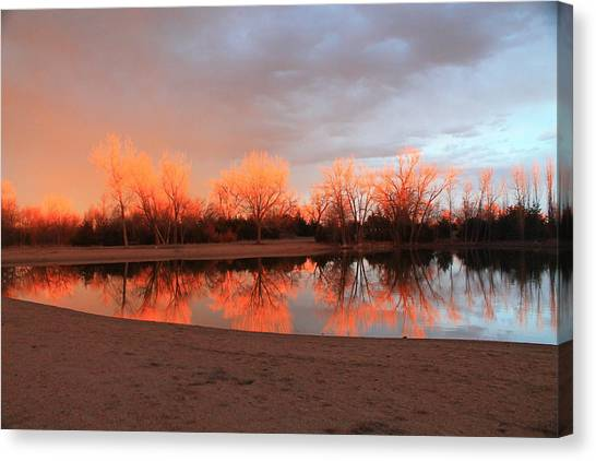 Sunset Fire Canvas Print