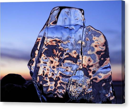 Canvas Print featuring the photograph Sunset Fish by Sami Tiainen