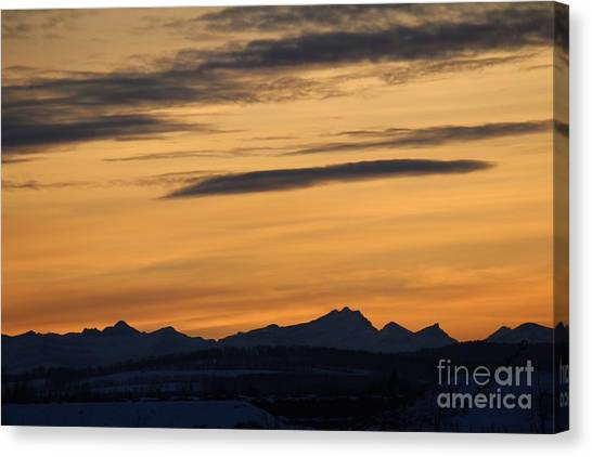 Canvas Print featuring the photograph Sunset From 567 by Ann E Robson