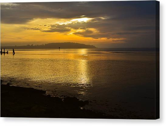Sunset From Fields Landing Canvas Print