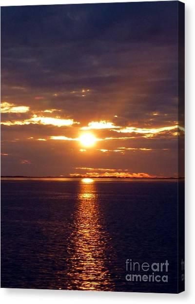 Sunset From Peace River Bridge Canvas Print
