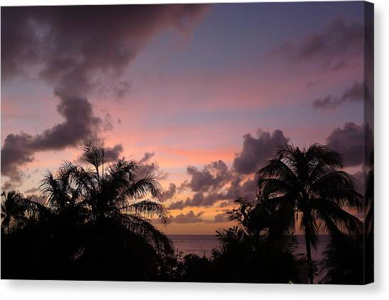 Sunset From Terrace 3 St. Lucia Canvas Print