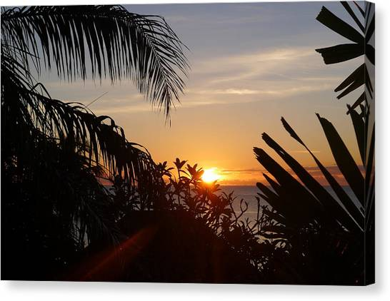 Sunset From Terrace - St. Lucia Canvas Print