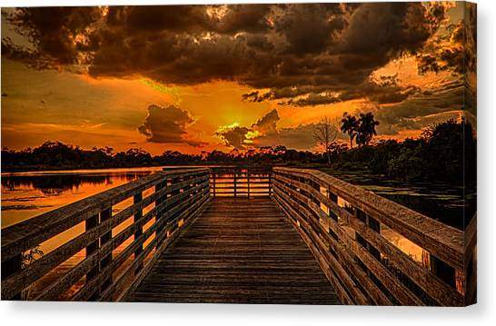 Sunset From The Dock Canvas Print