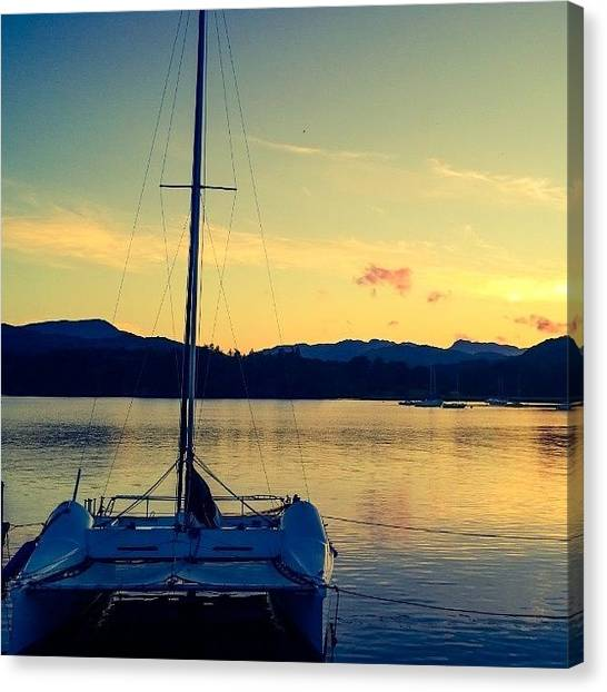 Lake Sunsets Canvas Print - #sunset From The #yha #ambleside. Not A by Philip Murphy