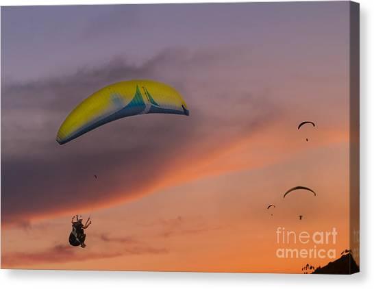 Sunset Gliders Canvas Print by Soren Egeberg