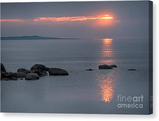 Sunset Glow At Awenda Beach Canvas Print