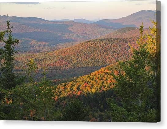Sunset Glow Over The Autumn Landscape Canvas Print