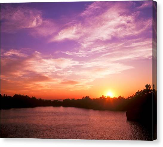 Sunset Halibut Point Canvas Print