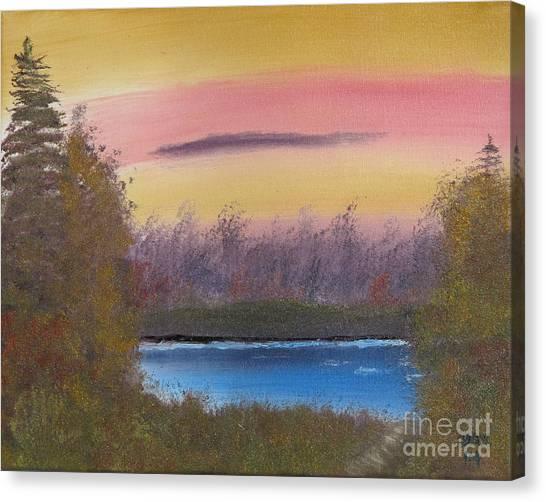Sunset Haze Canvas Print by Dave Atkins