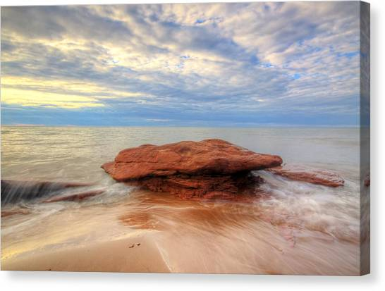 sunset hour at PEI National Park. Canvas Print