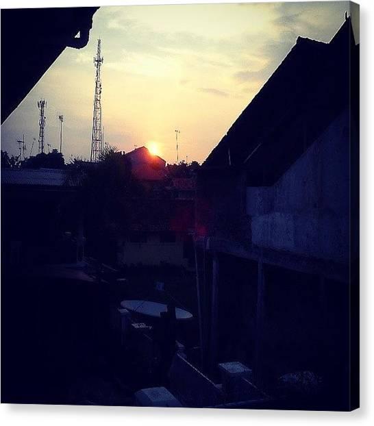 Shakira Canvas Print - #sunset  #house #indonesia #instagood by Inas Shakira