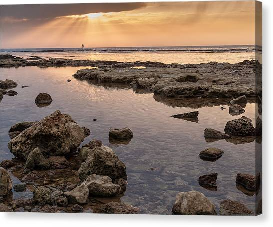 Sunset In Acre Canvas Print