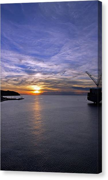 Sunset In Adriatic Canvas Print