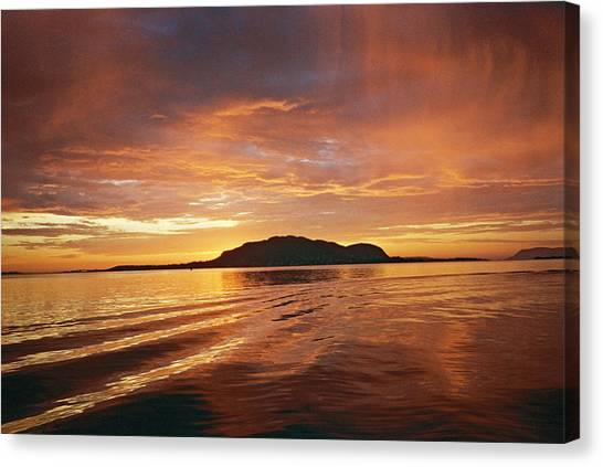 Canvas Print - Sunset In Alesund by Christine Rivers