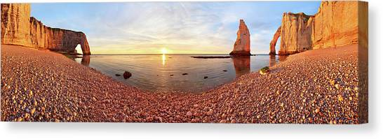 Etretat Canvas Print - Sunset In A?tretat by Valeriy Shcherbina