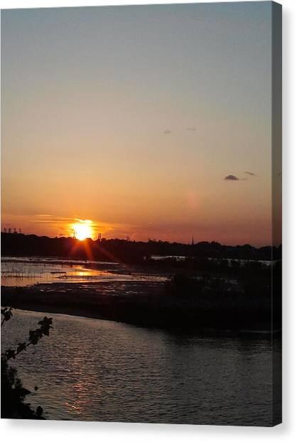 Sunset In Bayonne Canvas Print by Anastasia Konn