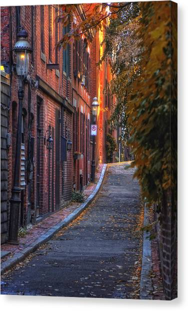 Sunset In Beacon Hill Canvas Print