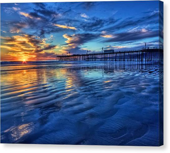 Sunset In Blue Canvas Print