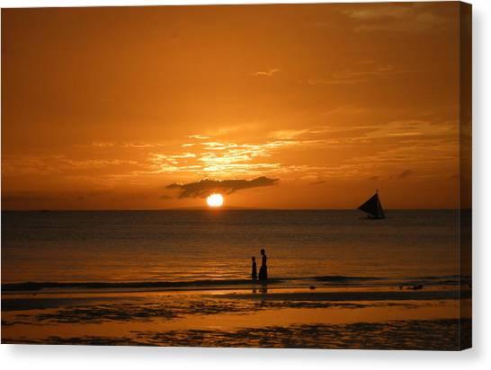 Sunset In Boracay Canvas Print