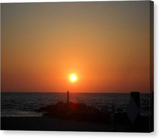 Sunset In Captiva Canvas Print